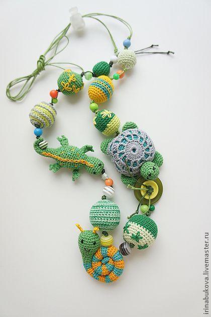 毛线织卡通项链 来自DIY物语 - 微博