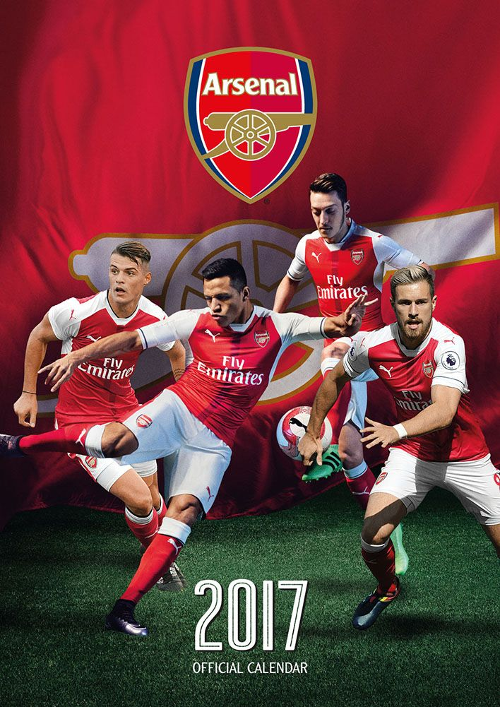 Official Arsenal 2017 Calendar now available for only £8.99 and Free UK Delivery (Worldwide Delivery also available) at http://bit.ly/FootballCals2017