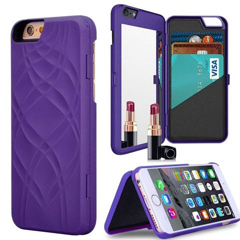 Wallet + Mirror iPhone Case (Purple) - SheerGlam Cases & Accessories - 6