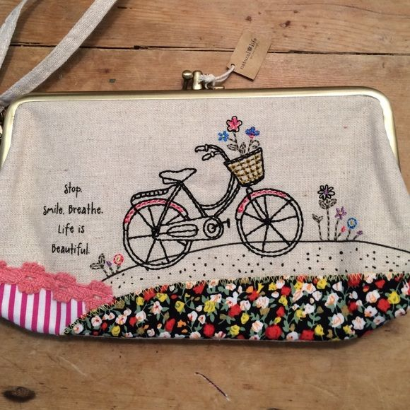Natural Life Clutch Wristlet Purse Cool Clutch 9in long 5in high two separate compartments credit card holder zipper coin area in purse spotless inside never used has natural life tags Natural Life Bags Clutches & Wristlets