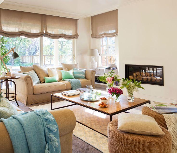 M s de 25 ideas incre bles sobre cortinas de color beige - Decorar salones cuadrados ...