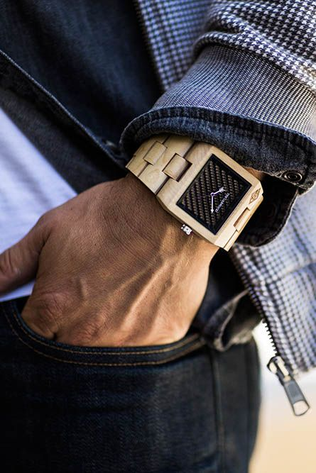 Stand apart from the crowd with your unique 100% natural wood watch!