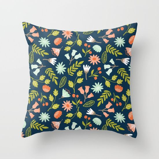 #flowers #pillow #wilderness Available in different #giftideas products. Check more at society6.com/julianarw