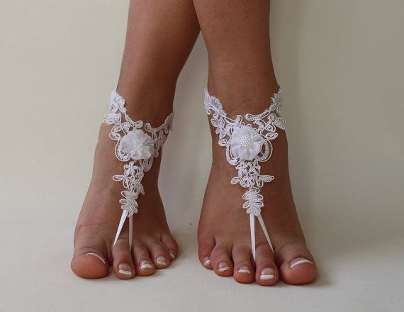 FREE SHİP  Beach Wedding  Barefoot Sandals Wedding by byPassion