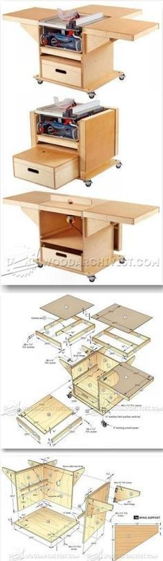 Table Saw and Router Workstation Plans - Table Saw Tips, Jigs and Fixtures | WoodArchivist.com by jewell #WoodworkCrafting #woodworkingtips