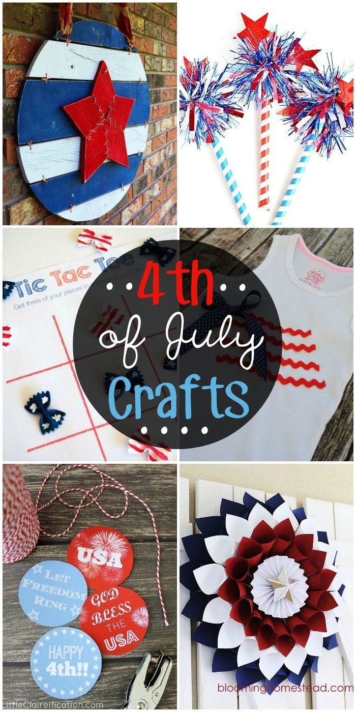 A collection of 4th of July Crafts!! Very cute and patriotic! { lilluna.com }