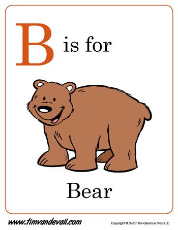 Here is a free B is for Bear printable for kids. Parents ...