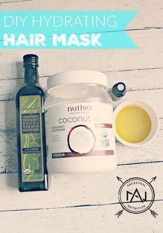 DIY Hydrating Hair Mask - this mask is great for long hair or if you want to grow your hair out. It reduces split ends, repairs damage, adds shine and makes your hair SO soft!