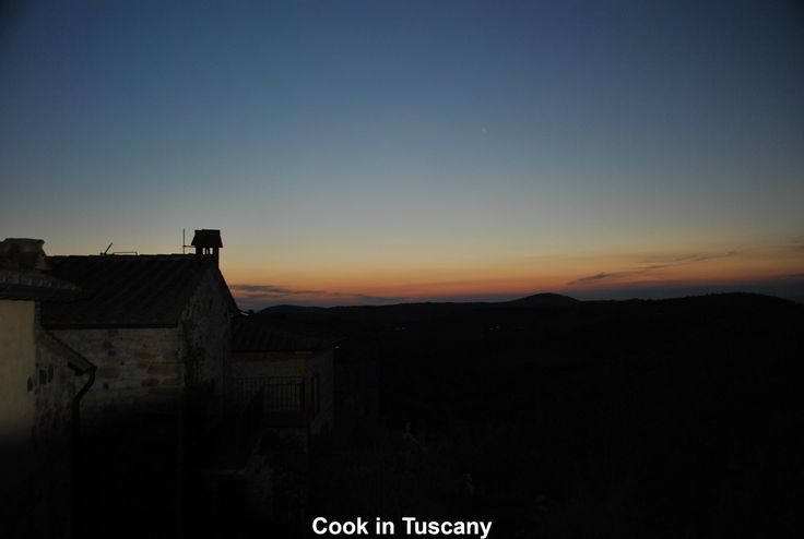 Sunset in Montefollonico.  View from my back porch.  www.cookintuscany.com   #tuscany #montefollonico #cookintuscany #Italy #cookingschool #culinary #cooking #school #montepulciano #cookery #cucina #travel #tour #trip #vacation #pienza #cook #tuscan #cortona #allinclusive