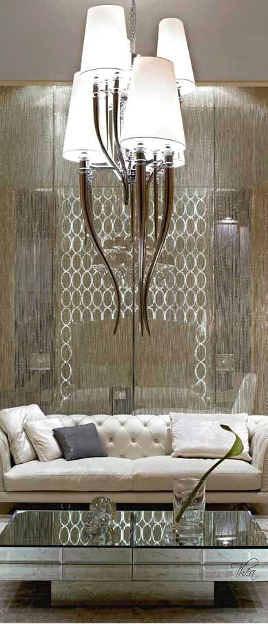 Elegant Living Room - Visionnaire IPE Cavalli Acer Luxury Designer Italian Coffee Table in Beveled Glass