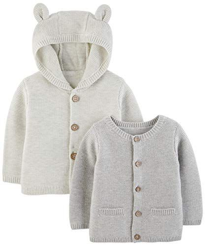 f69c80549 Simple Joys by Carter s Baby 2-Pack Neutral Knit Cardigan Sweaters ...