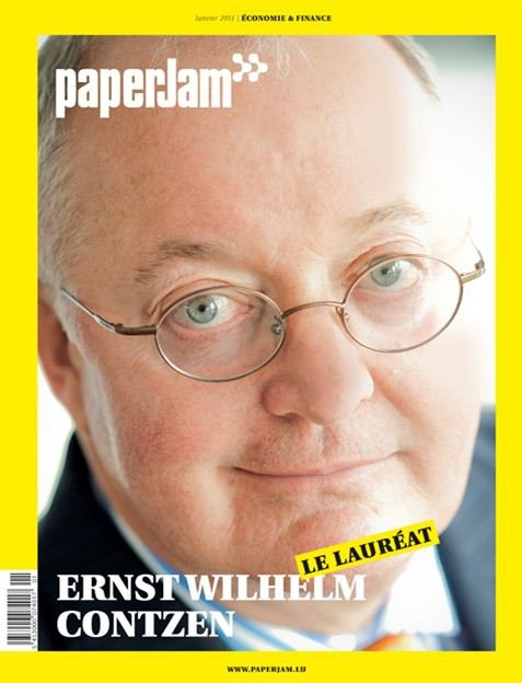paperJam - Ernst-Wilhelm Contzen (Deutsche Bank, ABBL). Cover Photography by Andrés Lejona. (January 2011).