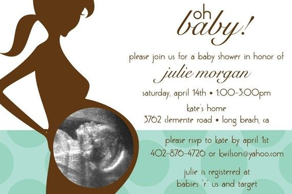 Oh Baby Ultrasound Photo Custom Baby Shower by KimNelsonCreative, $15.00