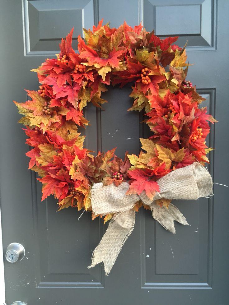 Dollar store DIY wreath.