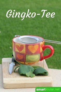 Ein Teeaufguss aus frischen oder getrockneten Ginkgo-Blättern steigert Konzentration und Leistungsfähigkeit. Mehr zu Rezept und Anwendung hier.
