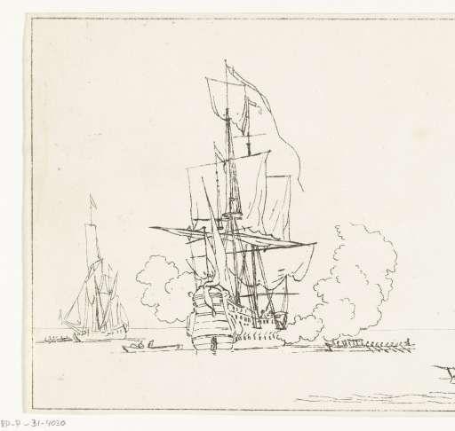 Zeeslag, Anthonie van den Bos, after Willem van de Velde (II), Willem van de Velde (I), 1778 - 1832 - Search - Rijksmuseum