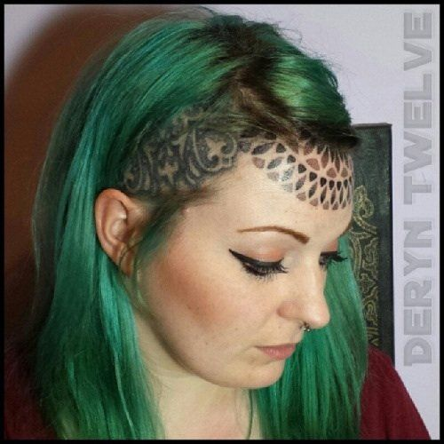 Tattoo Woman Face: Getting A Forehead Tattoo Is Like Wearing A Crown. Wear It