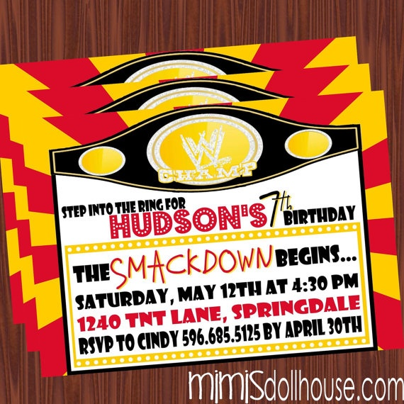 1000+ Images About Wrestling Party On Pinterest