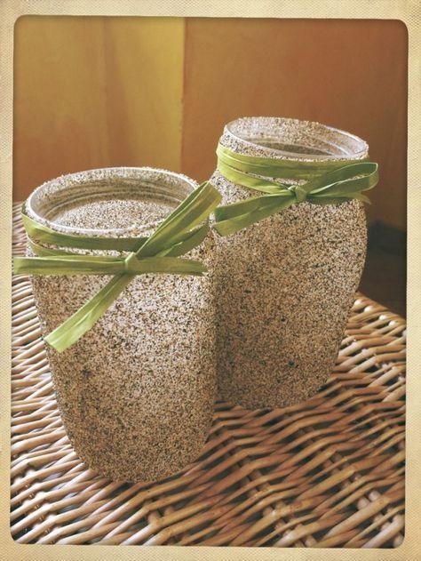 Idee regalo low cost e fai da te: vasetti di sabbia
