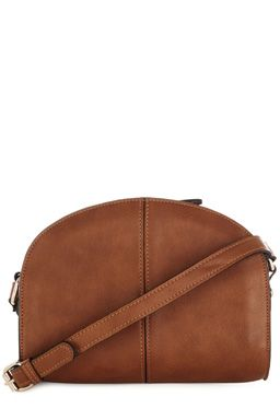 This leather-look crossbody bag features a crescent design, secure zip closure and adjustable strap.Fabric:Main: 100.0% Polyurethane.Wash care:Do Not CleanProduct code: 02287111 £32.00