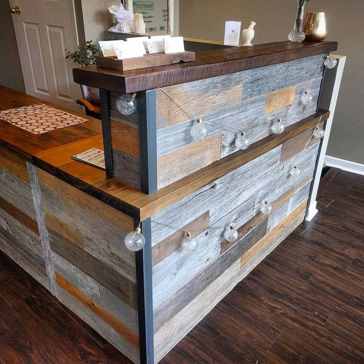 Stopped by our friends 360 Healing Centre on King Street East in Toronto today - the reclaimed barn board cash desk we made for them is looking good - works great in the space and adds lots of character.  #cashdesk #receptiondesk #barnboard #barnwood #barn #reclaimed #reclaimedwood #rustic #rusticwood #igers #oneofakind #retaildesign #toronto #hamilton #hamont #tdot #the6ix #905 #cottage #muskoka #decor #shelf #condo #oakville