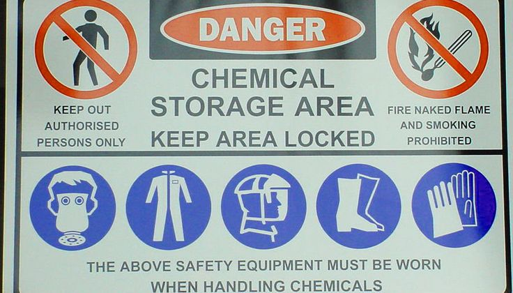 Chemical hazards sign