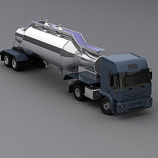 3d semi trailer truck model