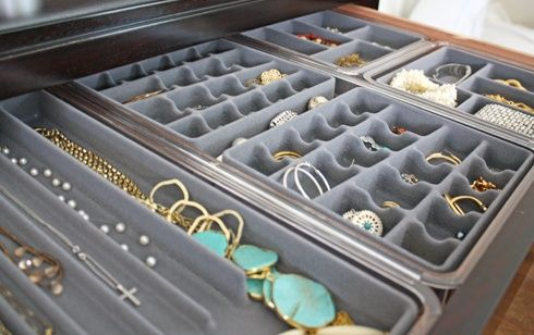 Organized Jewelry Drawer | Simply Modern Home