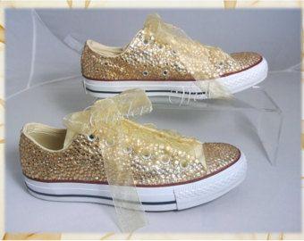 Wedding Converse  All over Sparkling Converse  Wedding shoes