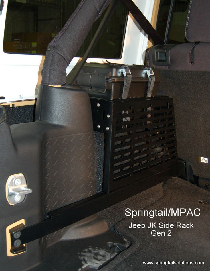 Jeep JK Unlimited Rear Storage Driver Side MOLLE Panel for Gear  NO DRILLING  #Springtail