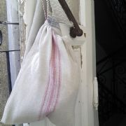 hand woven draw string bag