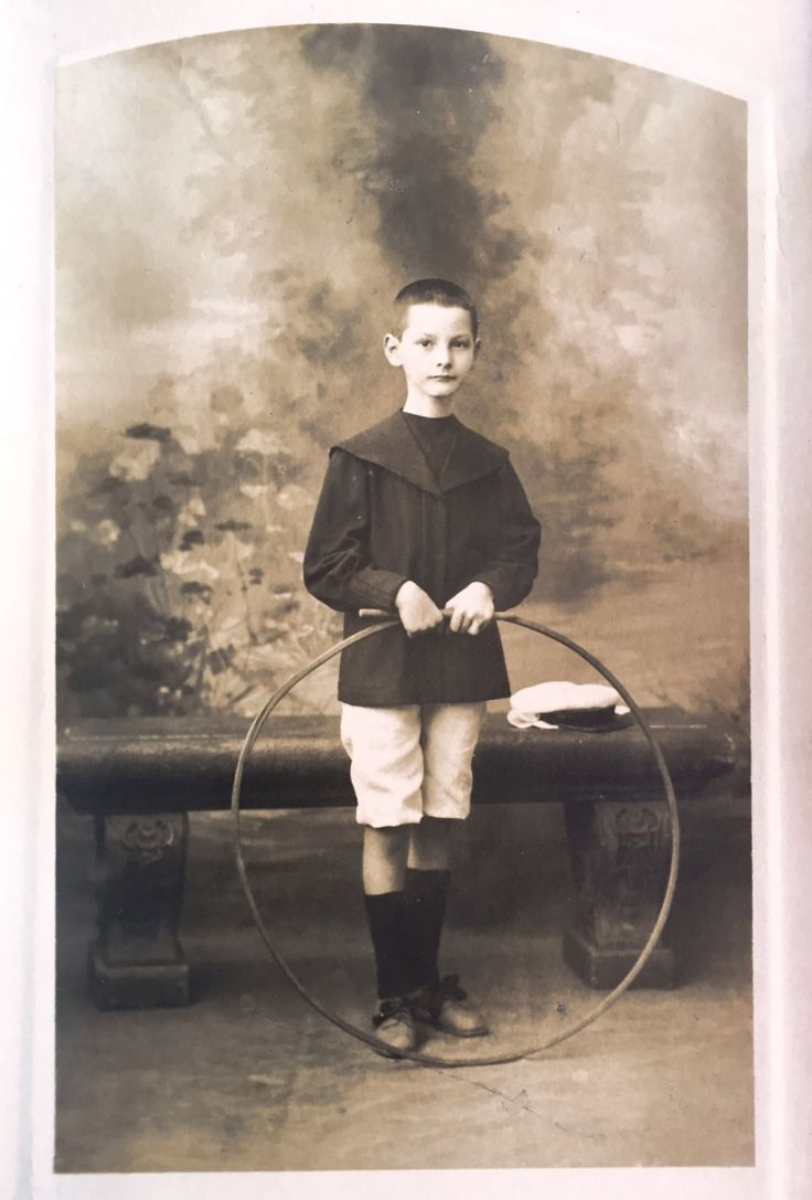 Boy Antique school picture with stick and hoop * Hoop rolling Old school…