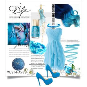 """City life in Schuba blue!"" by annawirejewelry on Polyvore"