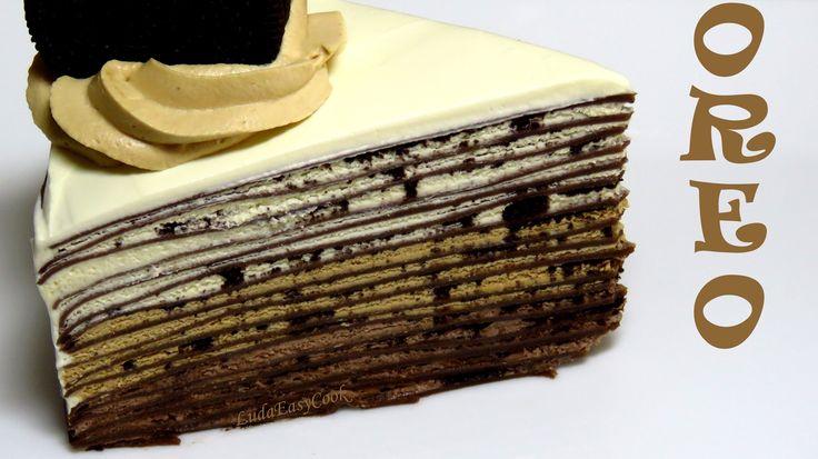 bánh Kếp Nghìn Lớp 3 Kem Oreo Socola mille Crepe cake Hướng dẫn cách làm...