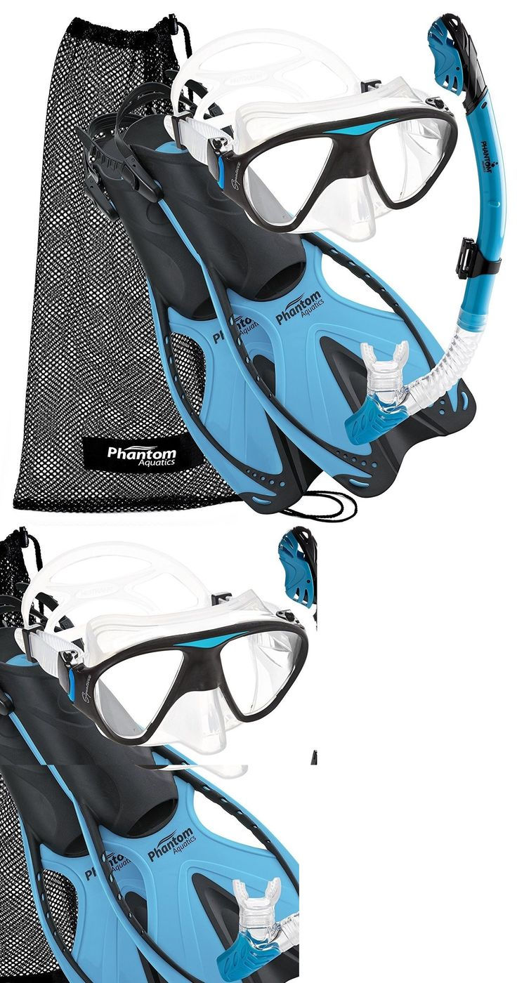 Snorkels and Sets 71162: Scuba Snorkel Mask Fin Set - Adult Diving Swimming Snorkeling S / M 6-8 -> BUY IT NOW ONLY: $60.45 on eBay!