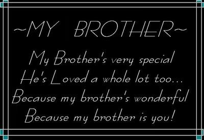 I Love My Brother Week | My Brother Quotes Graphics - LayoutLocator.com - Search over 550,000 ...