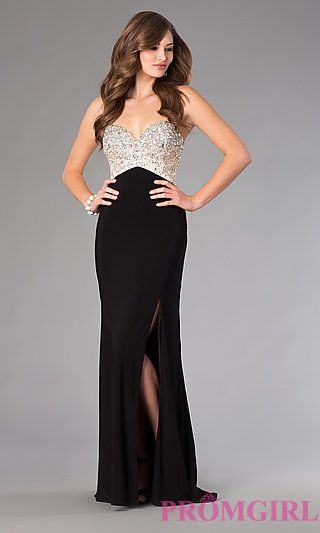 Dave and Johnny Floor Length Prom Dress at PromGirl.com