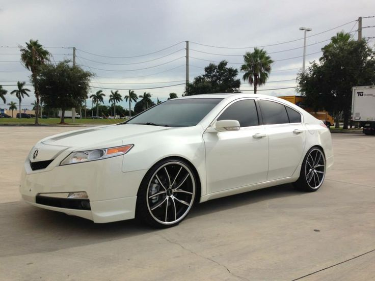 white acura tl with satin black machined and chrome lip. Black Bedroom Furniture Sets. Home Design Ideas