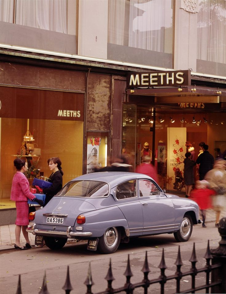 Saab 96.  We had this one, too.  Awesome little car to drive.