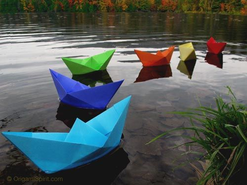 Origami/paper boats