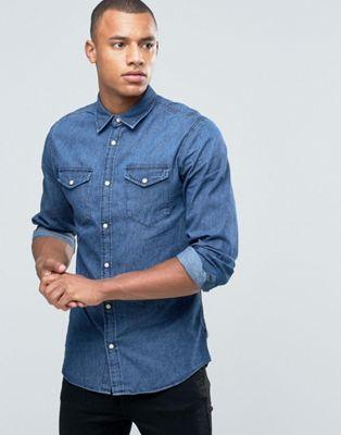 Jack & Jones Originals - Chemise en jean avec deux poches