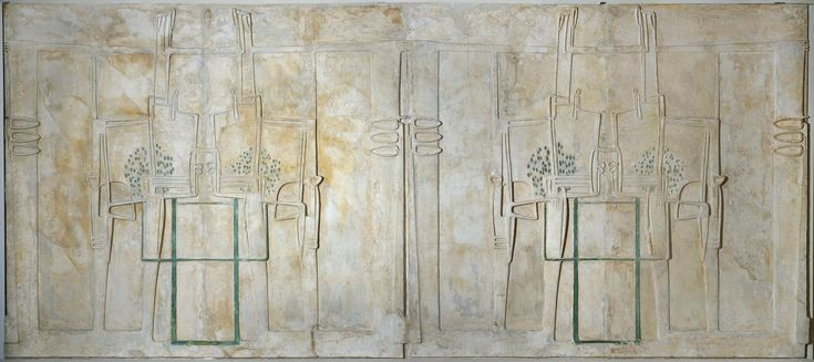 Sculpted plasterwork panel commissioned by Miss Cranston and designed for the Willow Tearooms, Sauchiehall Street, Glasgow, by Charles Rennie Mackintosh, c. 1903