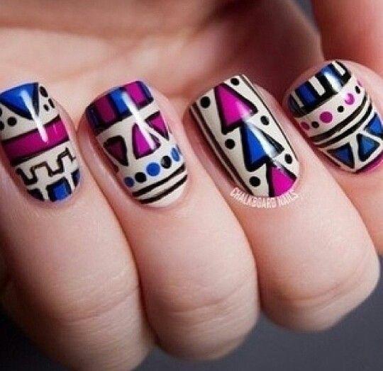 Best 25+ Tribal print nails ideas on Pinterest