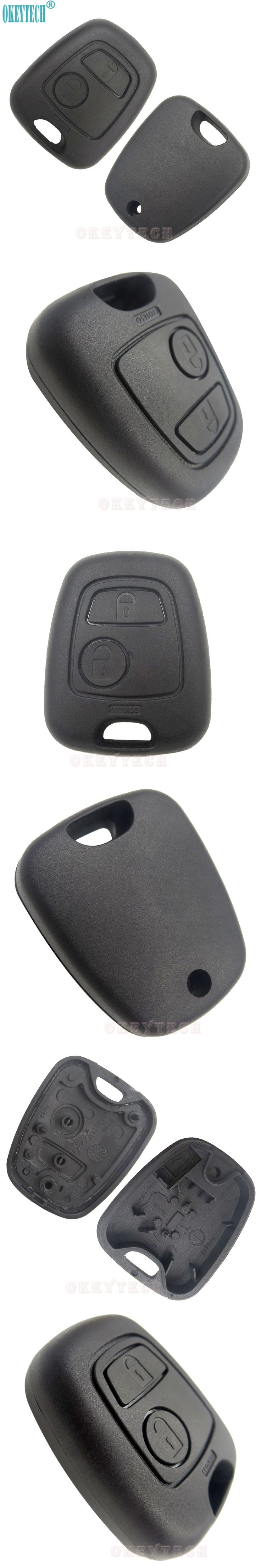 OkeyTech Car Styling Remote Key Car Key Fob Case Good Quality Replacement Shell Cover For Peugeot 307 107 207 407 without Blade