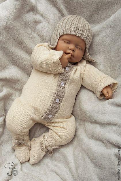 Для новорожденных, ручной работы. Ярмарка Мастеров - ручная работа Комбинезон для недоношенных и близнецов ЛАПУШКА. Handmade.