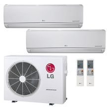 LG 21,000 BTU 22 SEER Ductless Dual Zone Heat Pump System 9+12 LMU18CHV LSN090HSV4 LSN120HSV4. This is the unit I want for the master suite