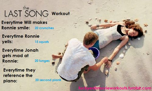 The Last Song movie workout!  Want to see more workouts like this one? Follow us here.