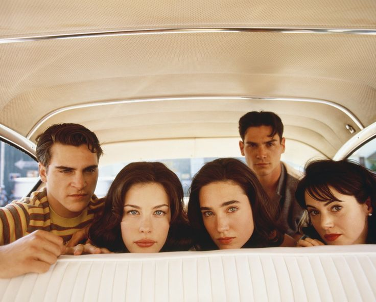 Joaquin Phoenix, Liv Tyler, Jennifer Connelly, Billy Crudup and Joanna Going photographed by Peggy Sirota, 1997