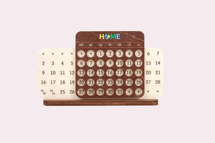 Вечный календарь, деревянный календарь, календарь с логотипом, необычный календарь, сувенир