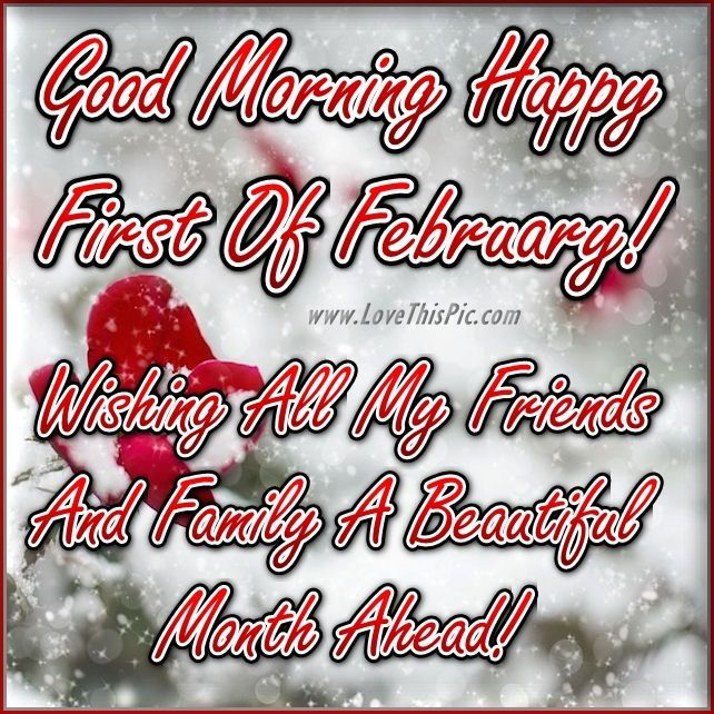 Good Morning Happy  First Of February Winter Quote